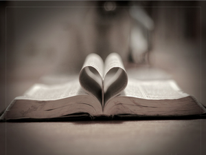 Bible in Shape of Heart
