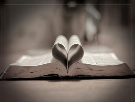 Bible in Shape of Heart