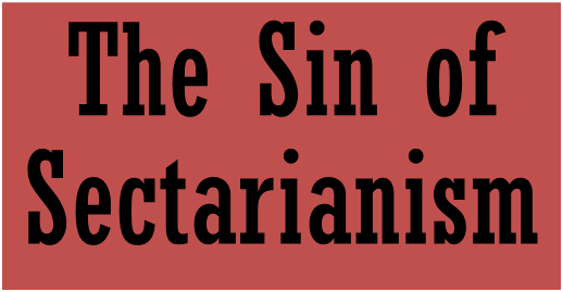 banner-sin-of-sectarianism